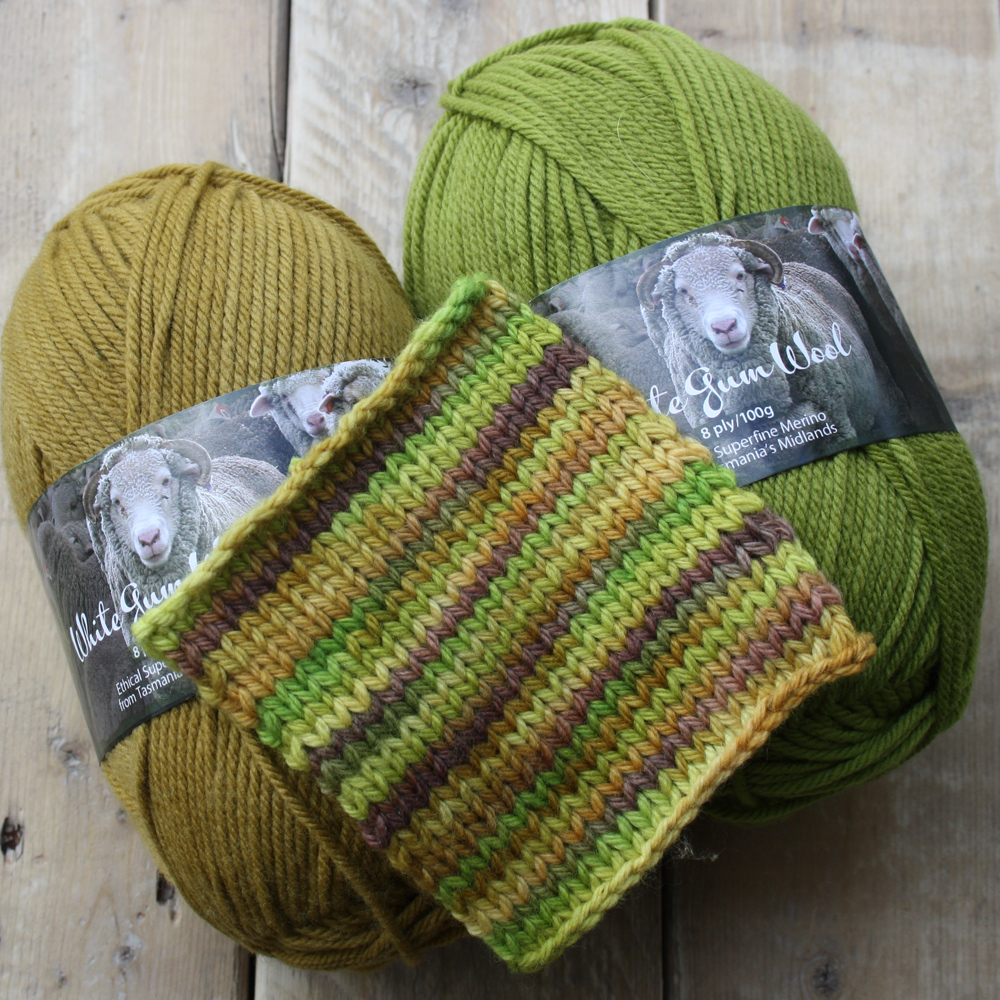Kangaroo paw swatch with sedge and wild orchid