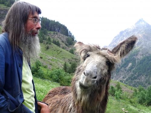 Shepherd Andre Leroy and his mule Dorine