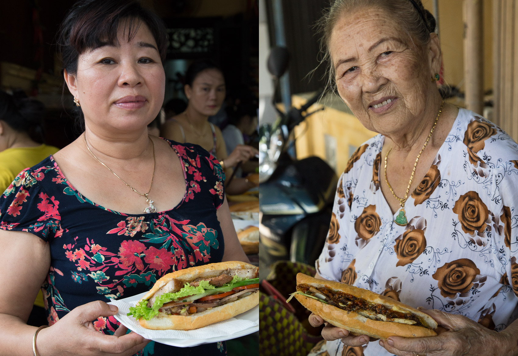 Banh mi adversaries Madam Phuong (left) and Madam Khanh (right).