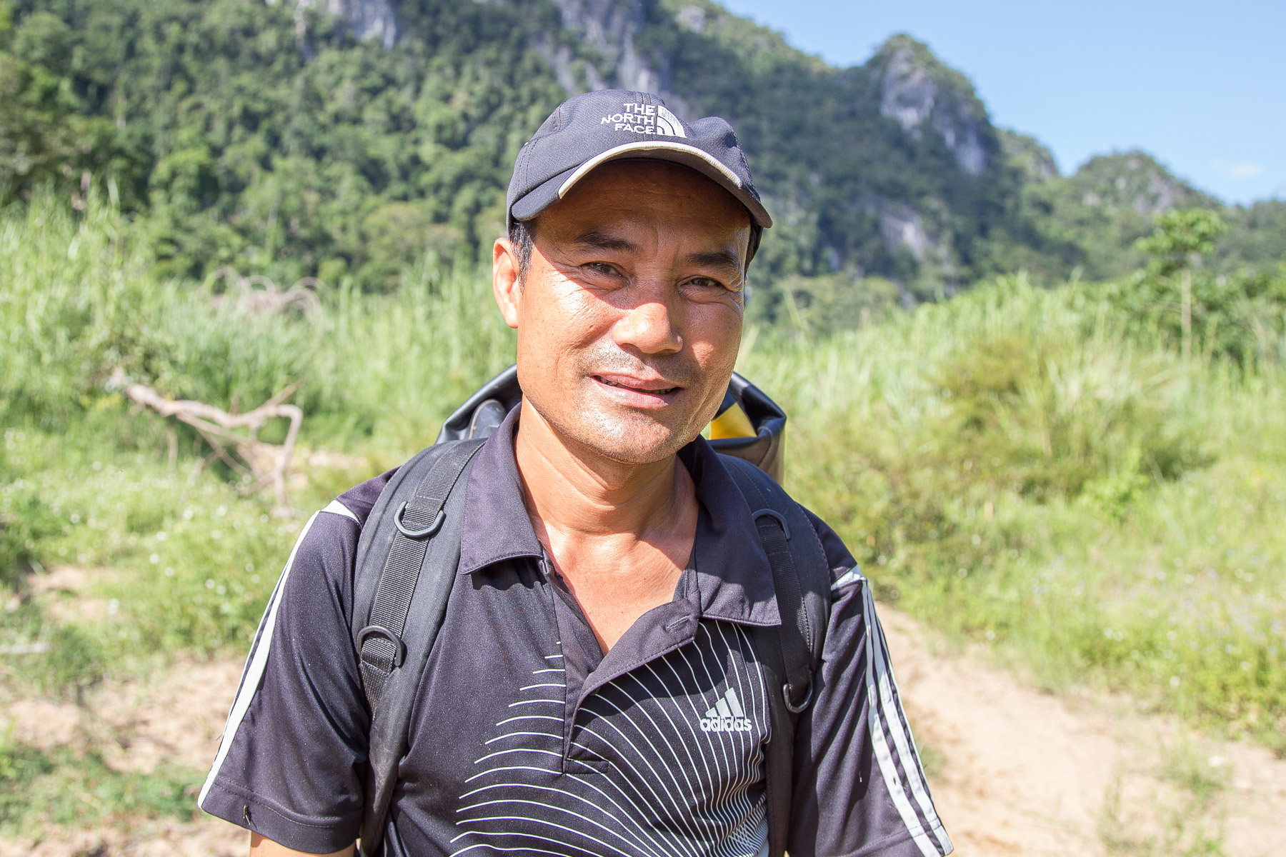 We bumped into this man - Ho Khanh - on the way to Hang En cave. Khanh was instrumental in discovering the world's largest cave, Hang Son Doong and now works as a cave guide and homestay operator in Phong Nha.