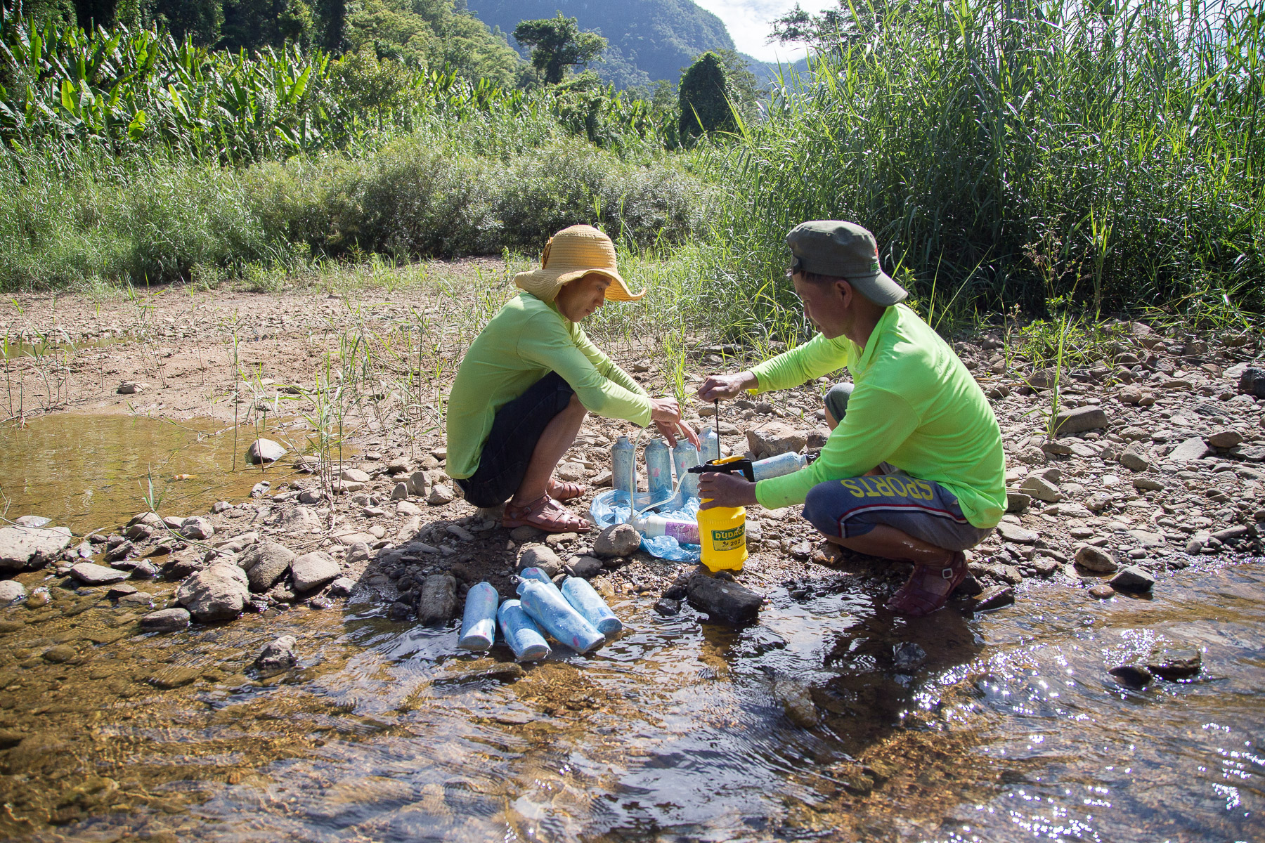 Water is life here in the jungle and our guides were always making sure everyone had enough (filtered) drinking water at our disposal.