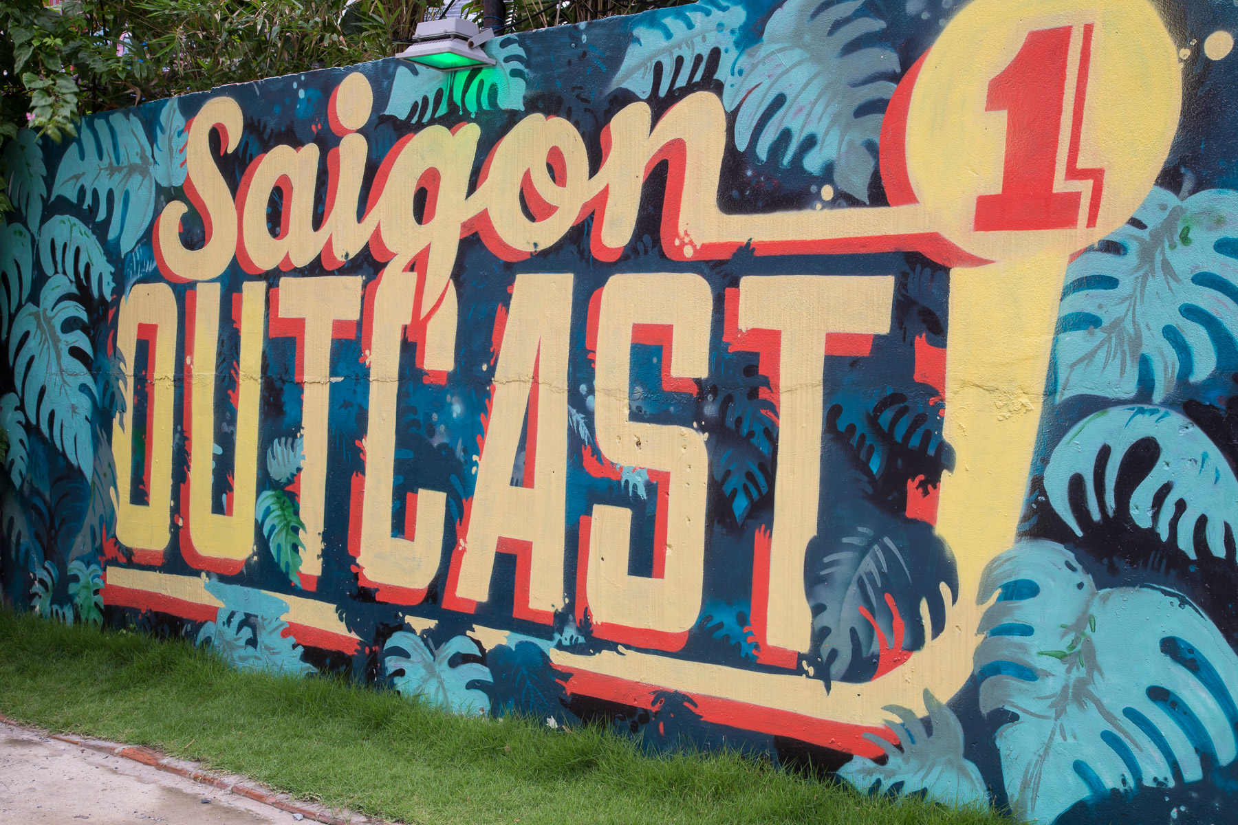 Saigon Outcast, a popular venue for live music, rock climbing and hanging out in the burgeoning expat suburb of District 2 in Ho Chi Minh City, Vietnam.