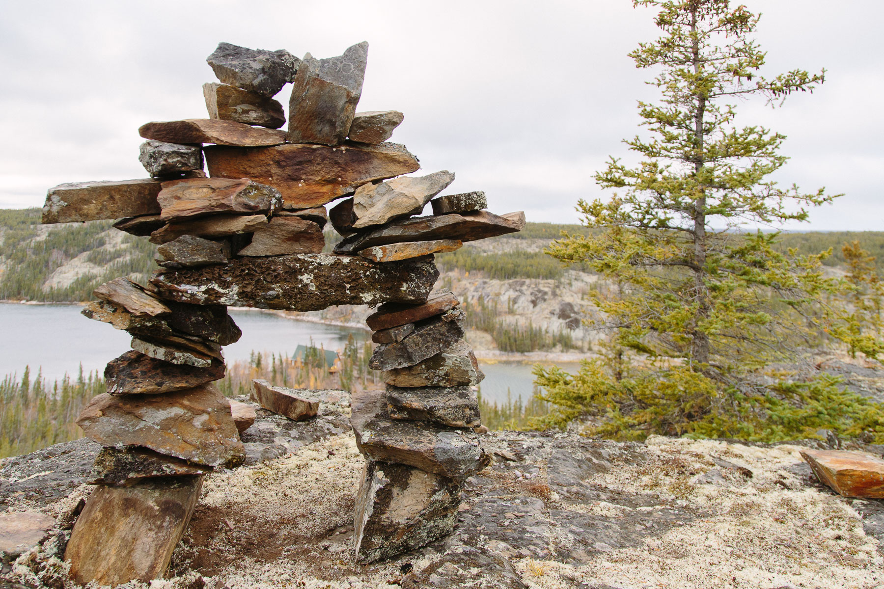 First Nations people built inukshuks like this one as markers and spiritual symbols.