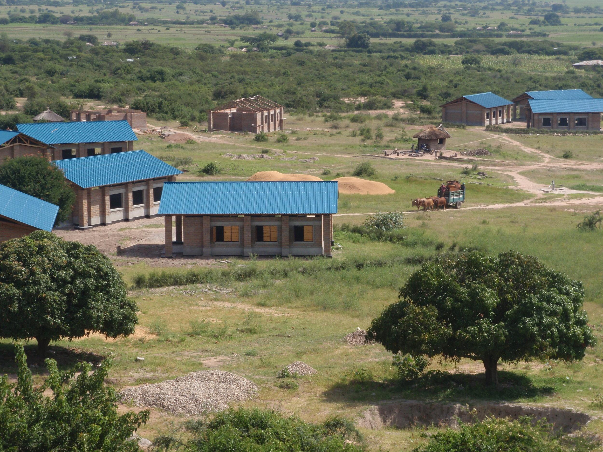 Ntulya Primary School under construction in 2008.