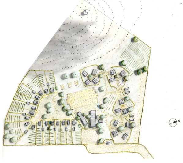 The campus plan follows the layout of a traditional Sukuma village.