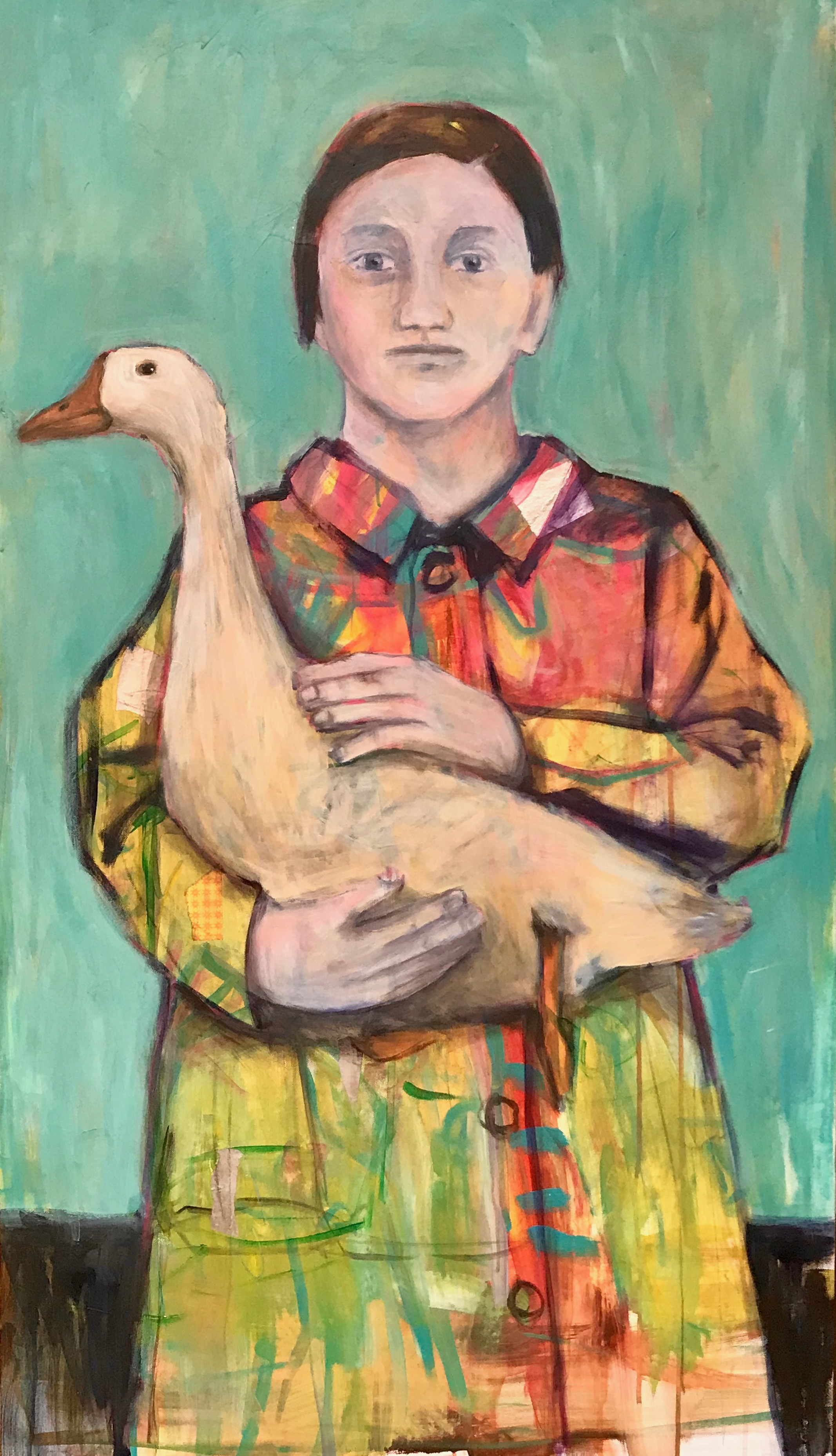 Frida and Botero with their Goose