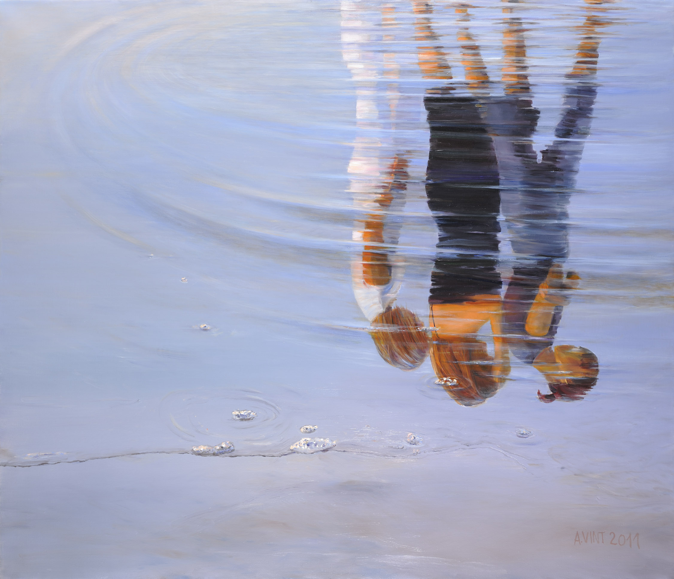 XXI Girls Mirrored in the Water  2011 oil on canvas  150 x120 cm_ATD2845.jpg