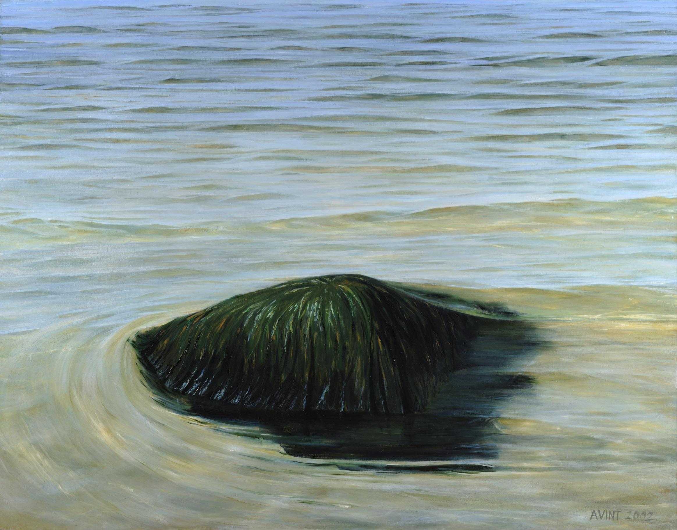 006  stone in coastal water 2000 oil on canvas 150 x 175cm kivi rannavees.jpg