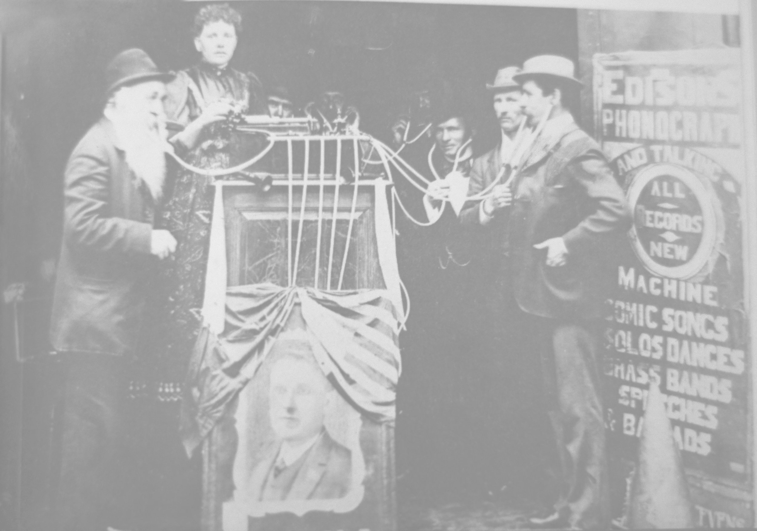 'Edison Machine', the phonograph imported by Frank Cartwright