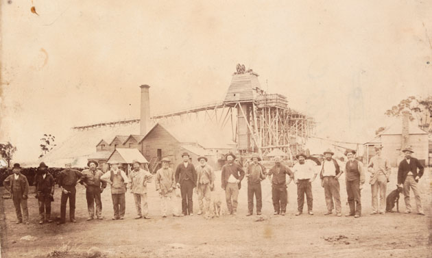 Scene of the Creswick Disaster, Photograph by Charles Rudd, 1883 – Sourced: State Library Victoria.