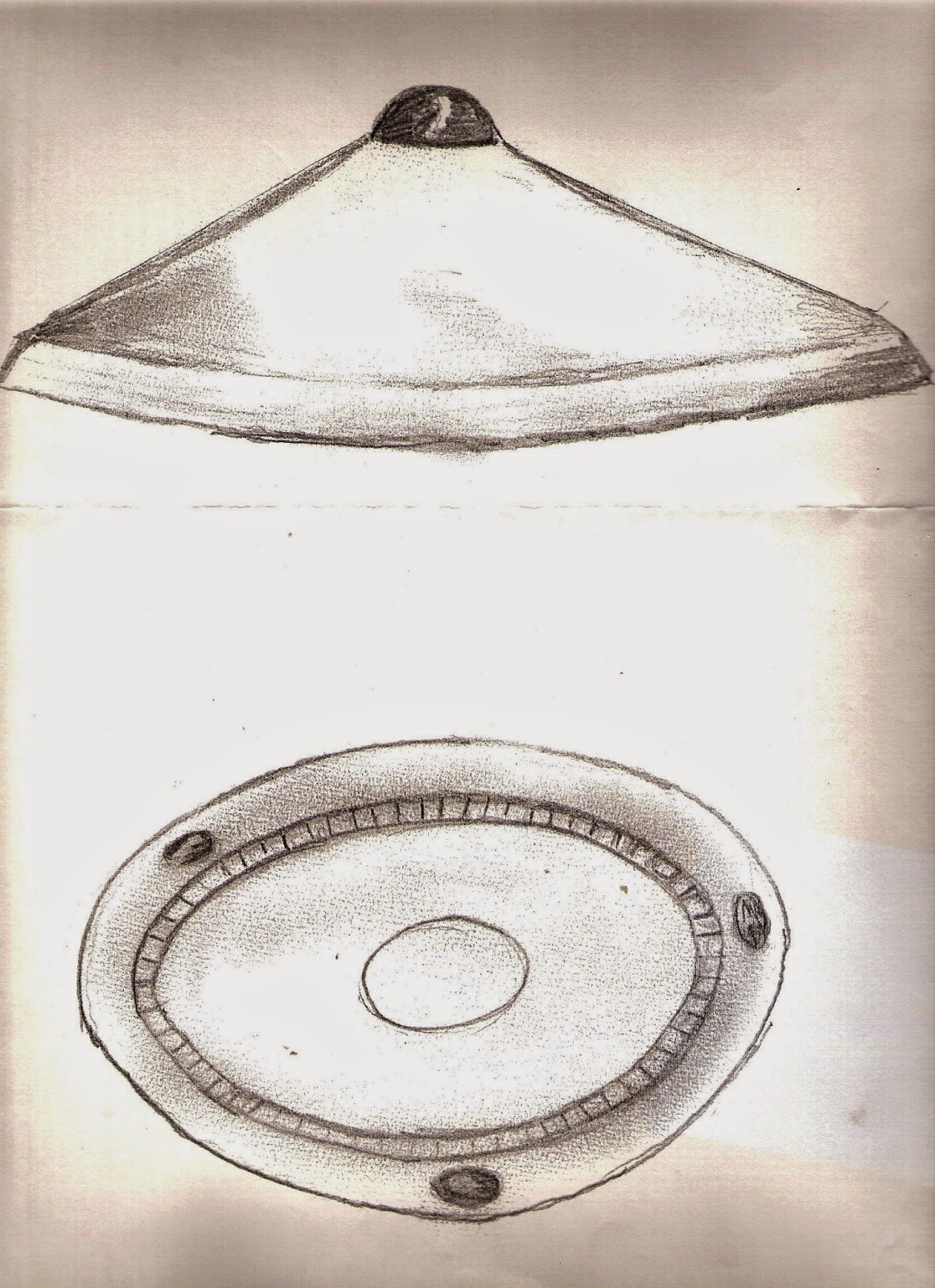 Copy of Victor Zakruzny's illustration of the Westall UFO