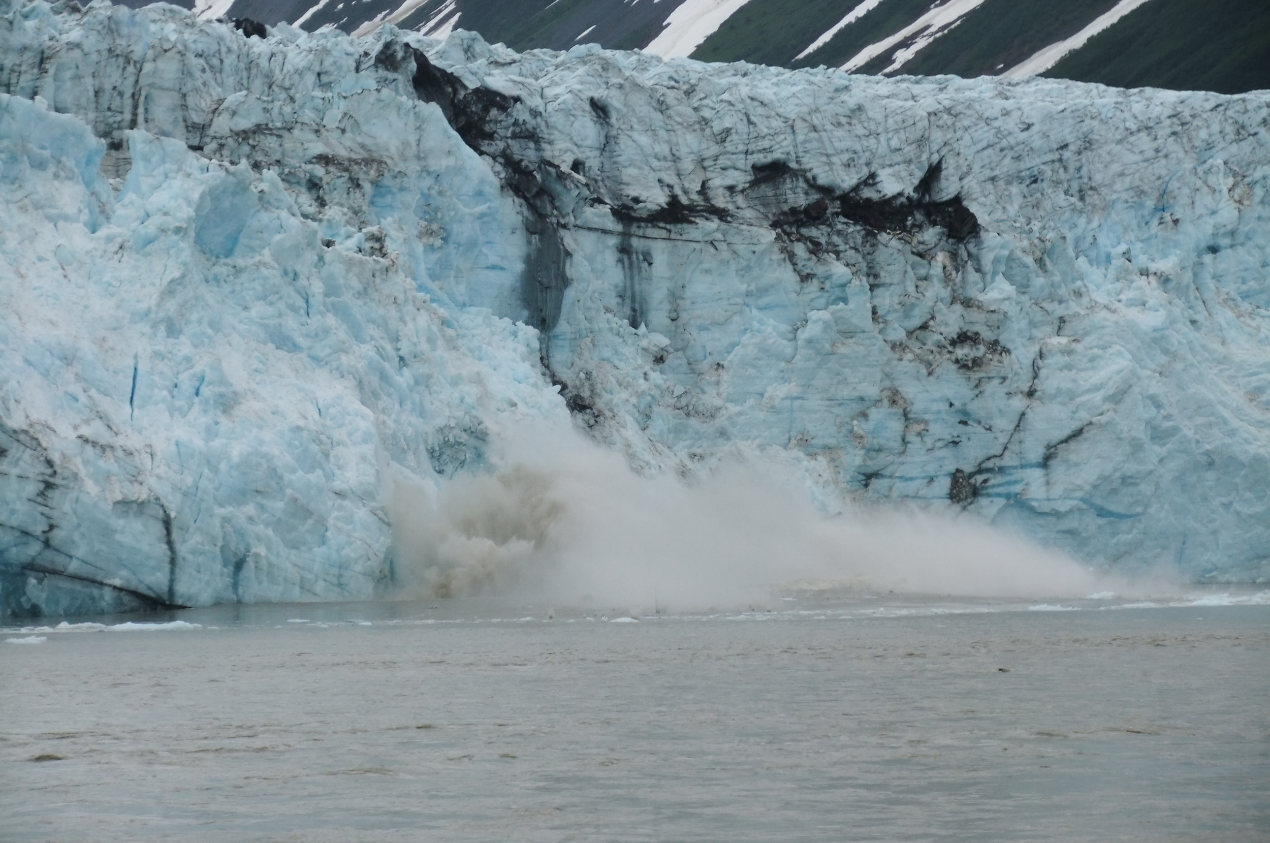 A glacier that was collapsing during my trek in Alaska in 2010.