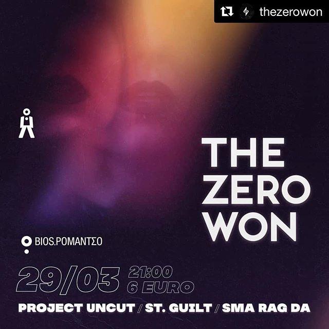 #Repost @thezerowon  This Friday | March 29th 🤩 Join us at @romantsoathens  at 21:00 sharp. . . . . #electronic #popmusic #electropop #live #concert #athens #greece #itsallaboutmusic #originalmusic . . Artwork: @constantinos88  Photo: @katrinpi . #thezerowon #projectuncut #stguilt #music #live #smaragada #ep #pop #electronic #bands #romantso #dance #artists