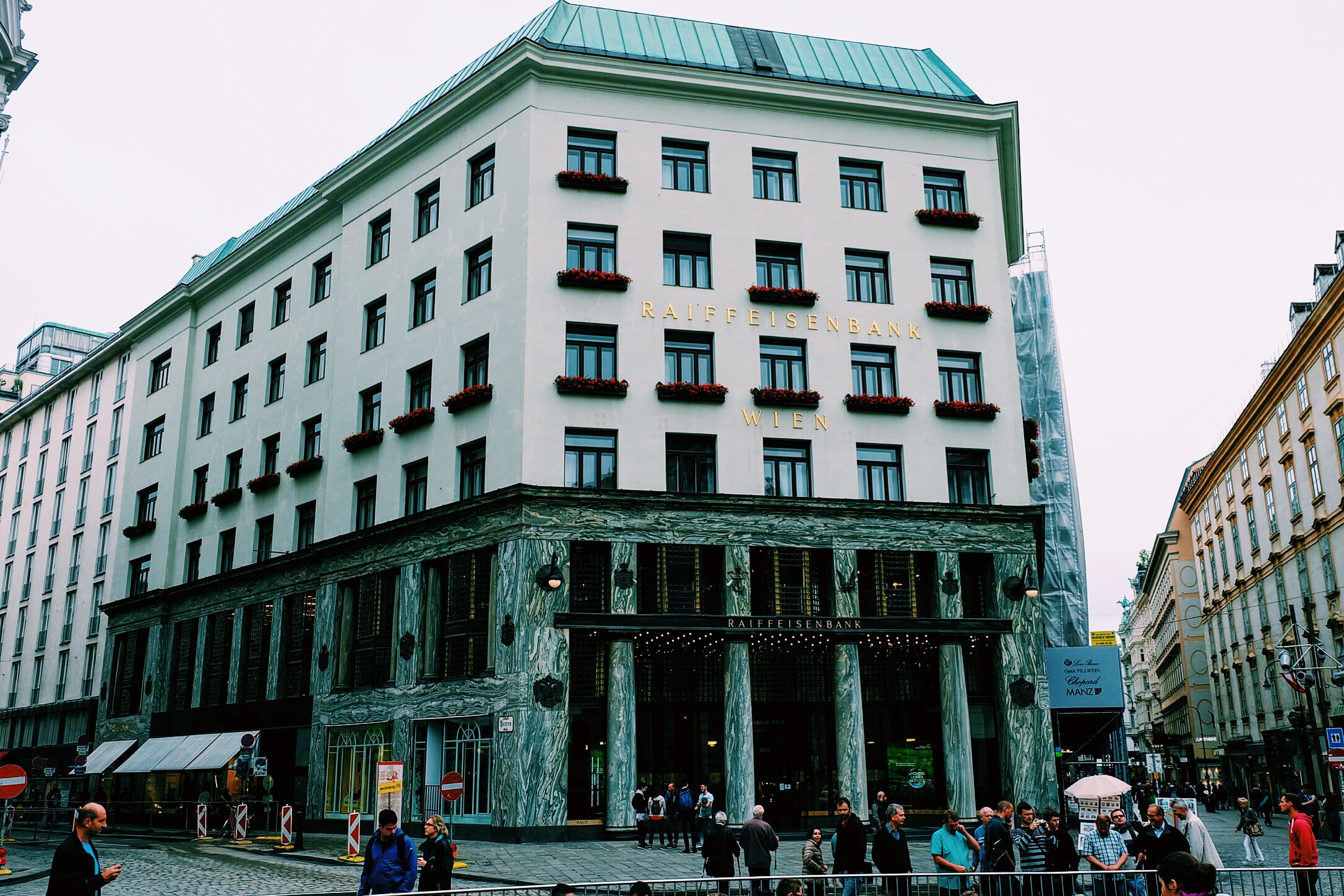 This building, built by Adolf Loos is apparently one of the the first examples of modern architecture in Europe