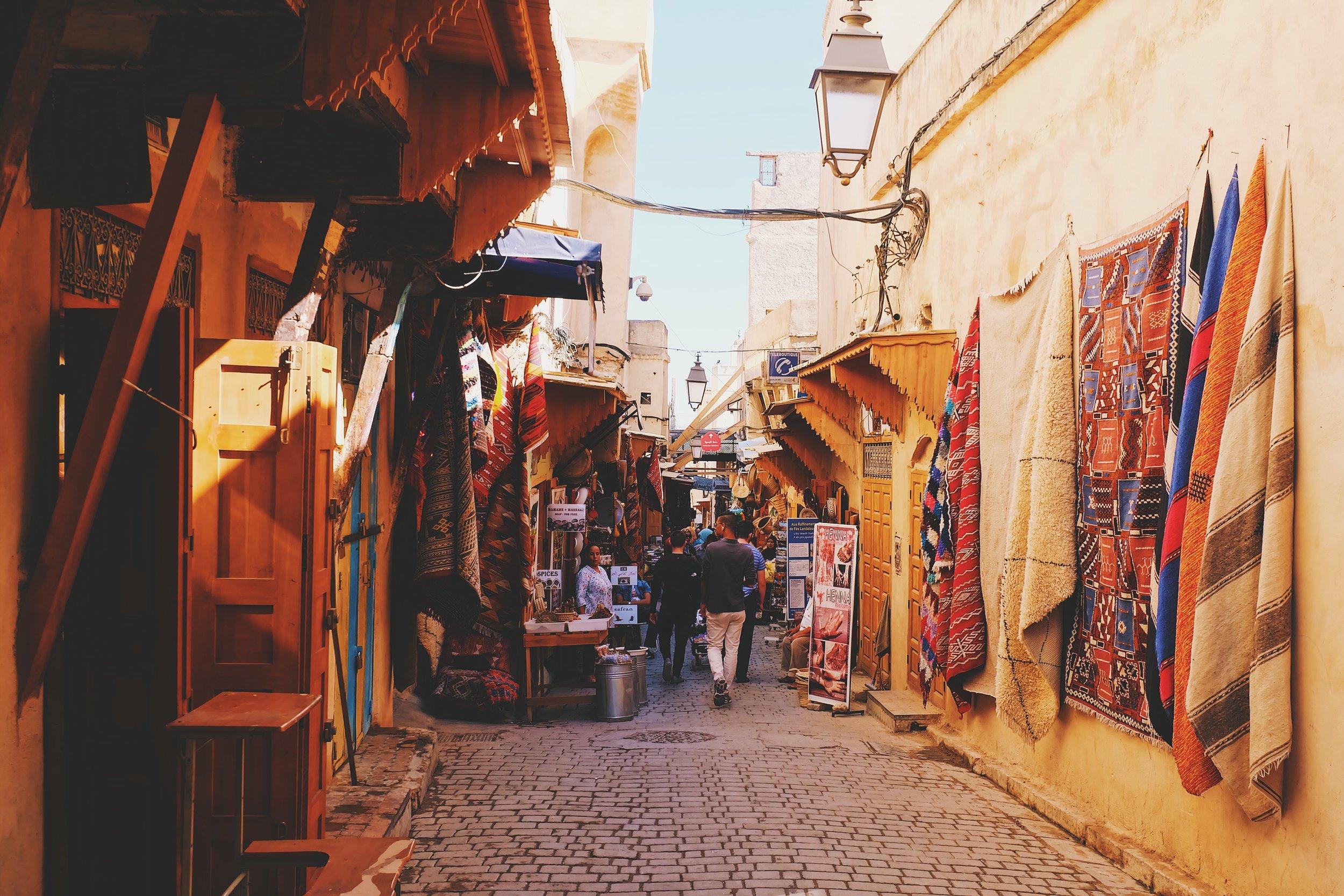 Markets in the old medina
