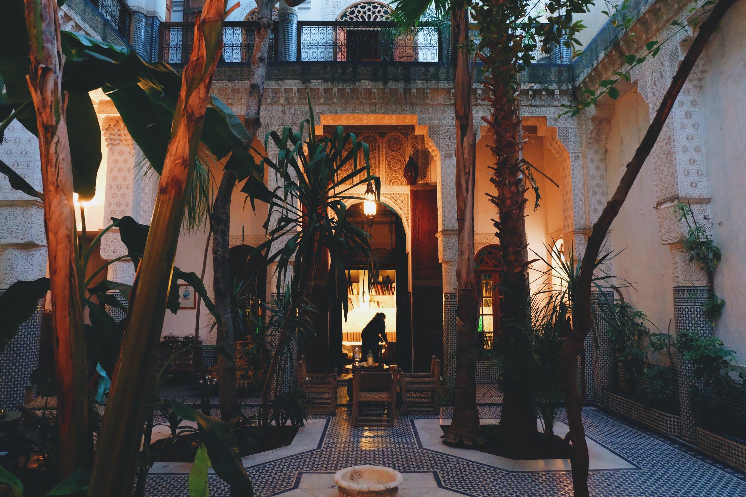 Riad Les Oudayas (courtyard)