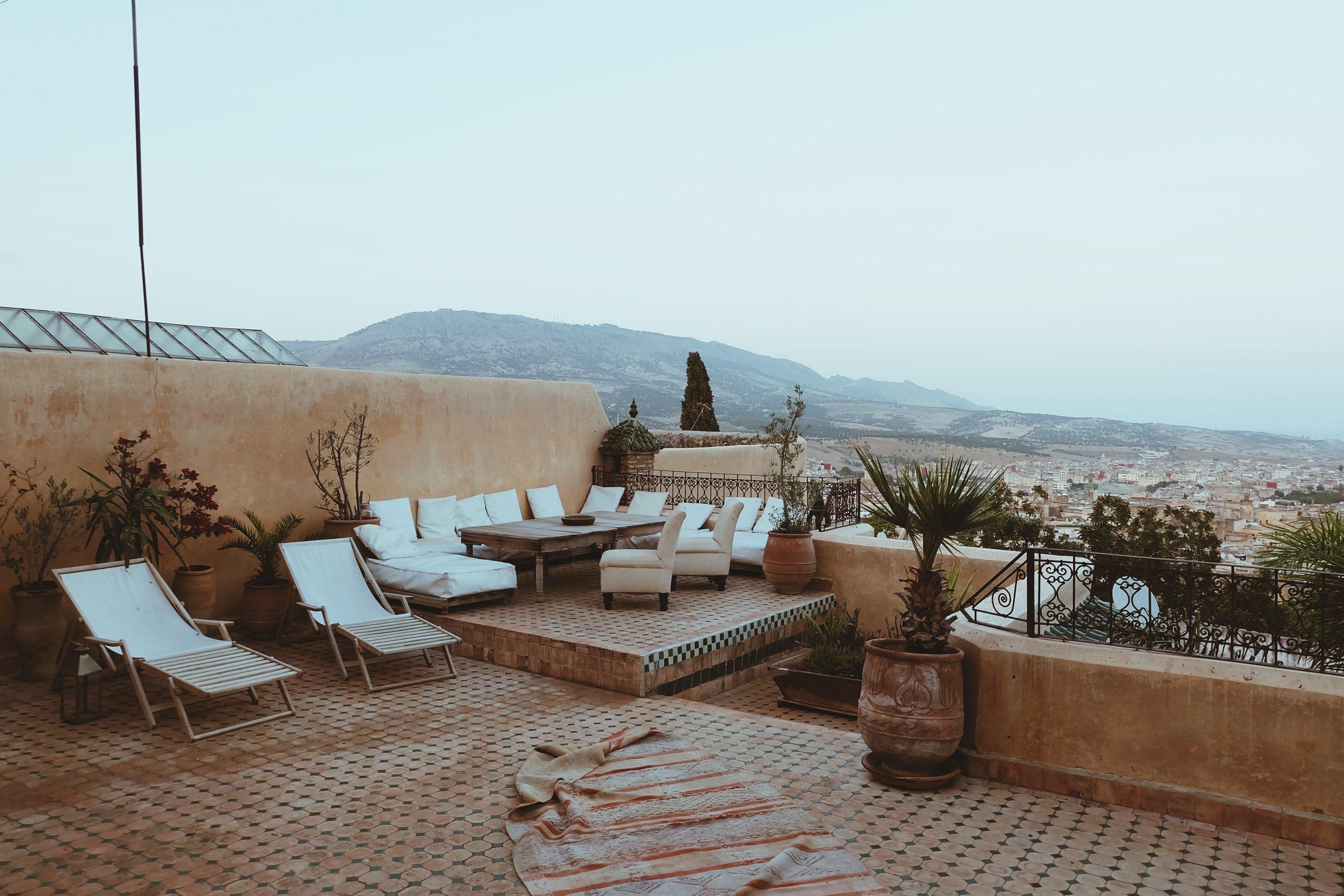 Rooftop at Riad Les Oudayas