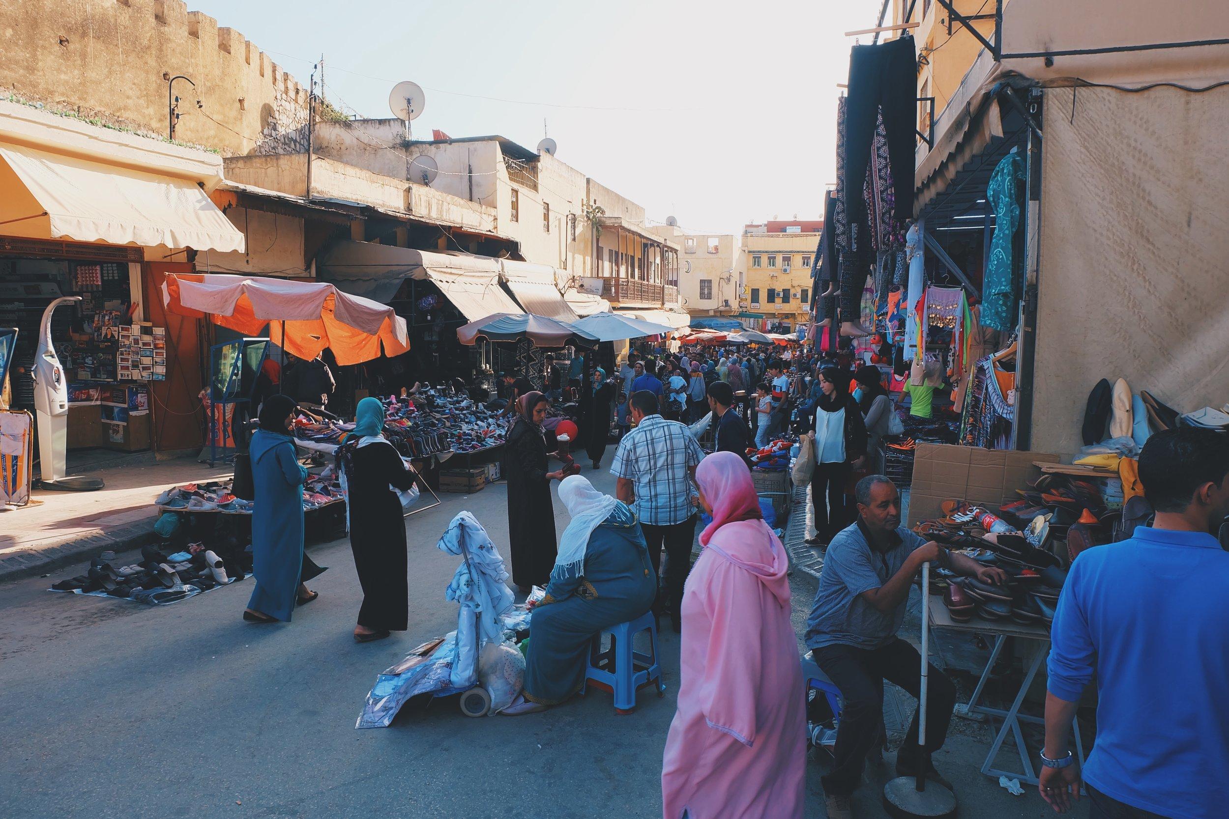 Market scene at Meknes