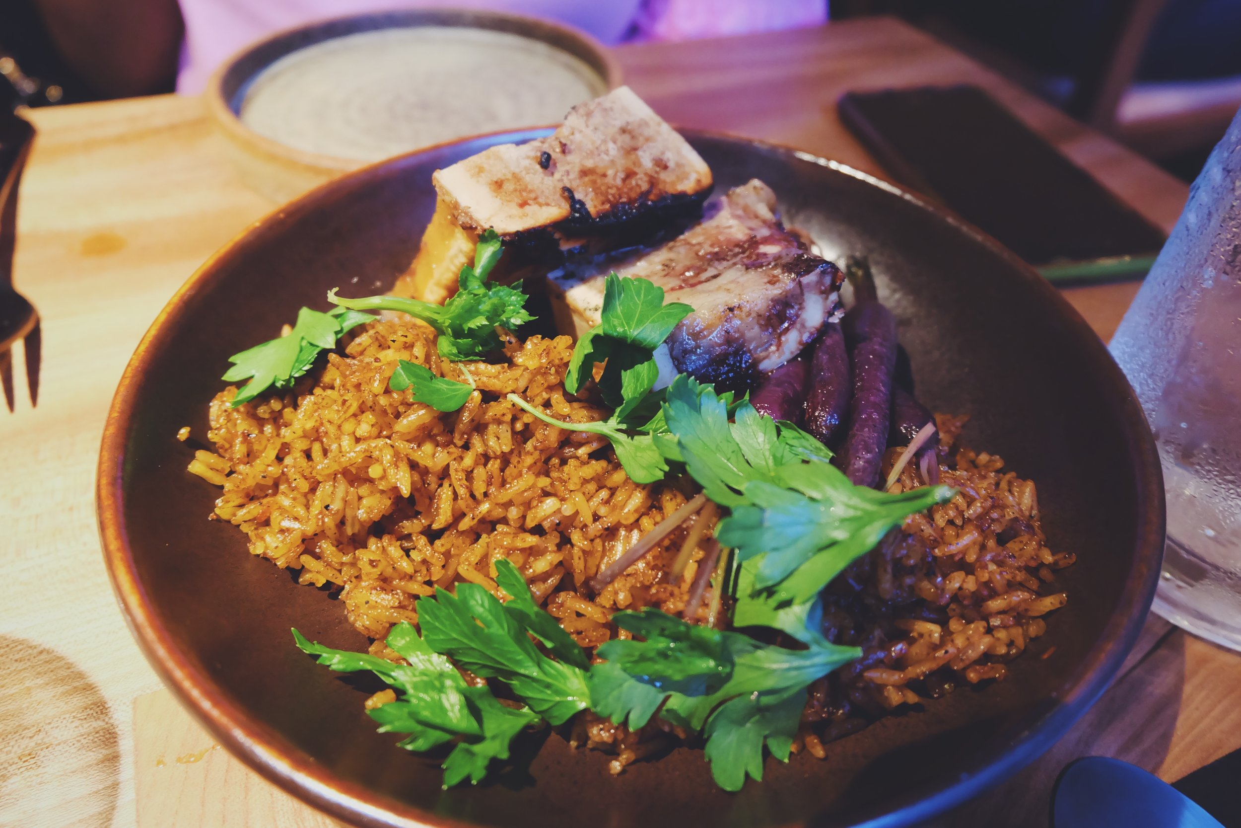 Jollof Rice & Smoked Bone Marrow  (£10.50)