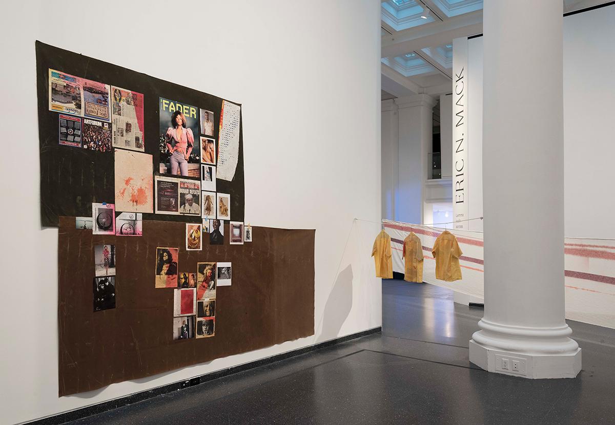 Installation View of  Lemme Walk Across The Room: Tartan Film Strip from 1987 till Recent , 2019  Jonathan Dorado/ Courtesy of Brooklyn Museum