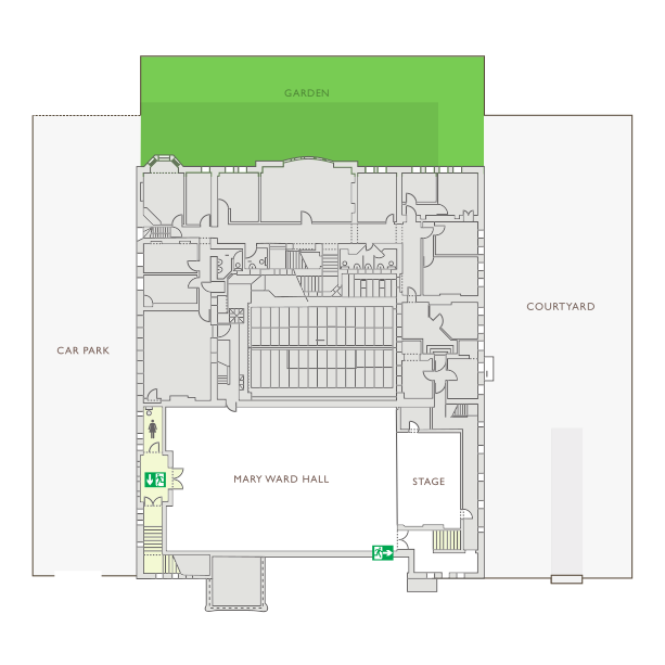 Mary Ward House 1st Floor Plan