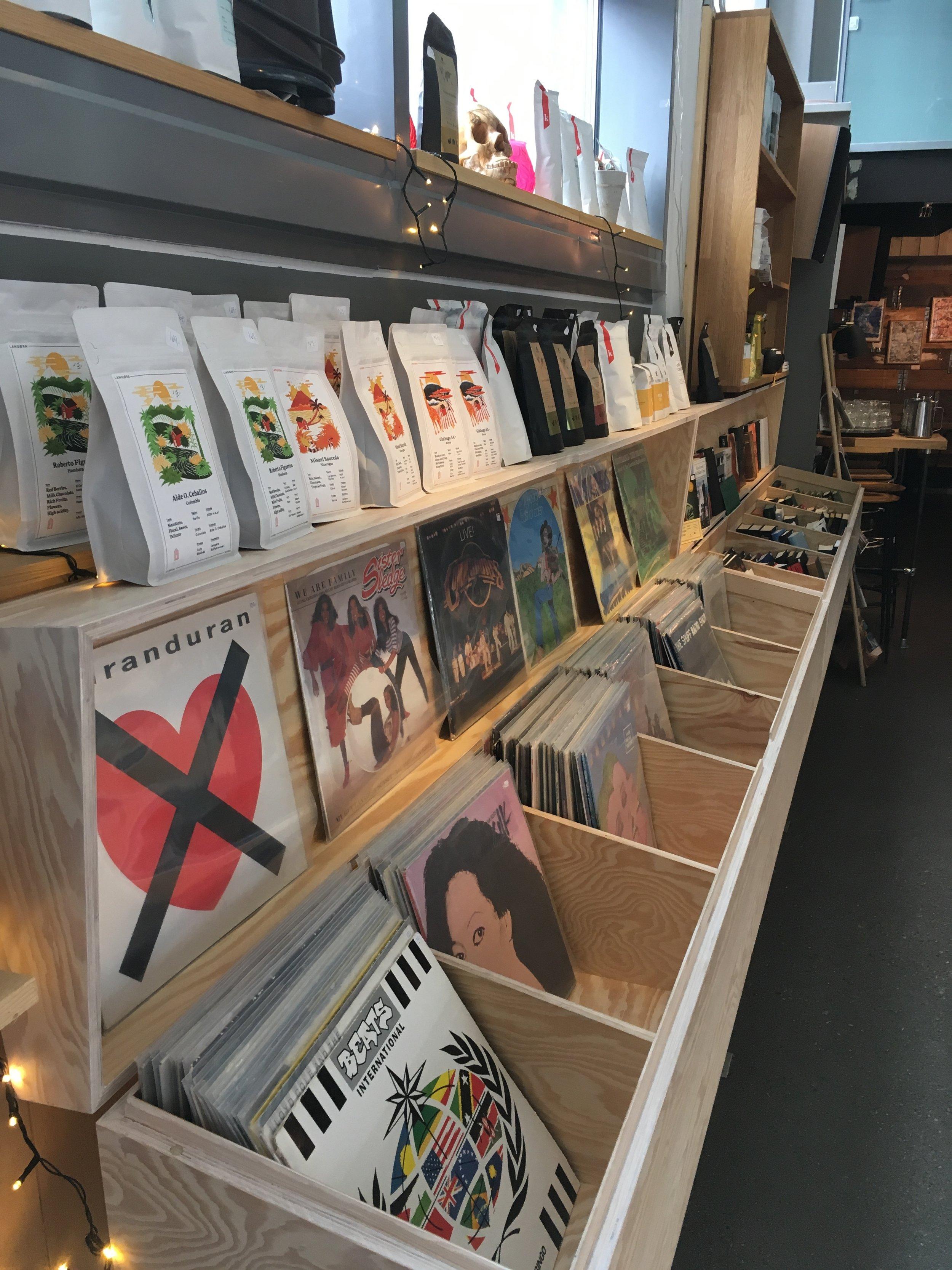 Vinyl, coffee, literature, good stuff.