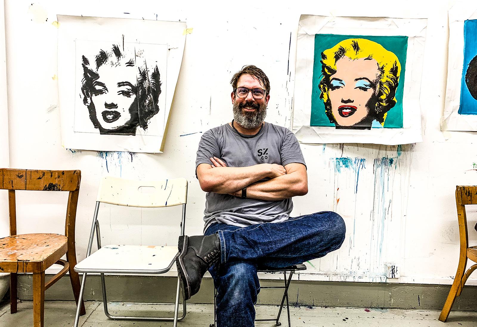 Nicolas Wagnières, plasticien, éditeur, sérigraphe et en charge de l'atelier multiples, éditions d'artiste à l'ECAV.
