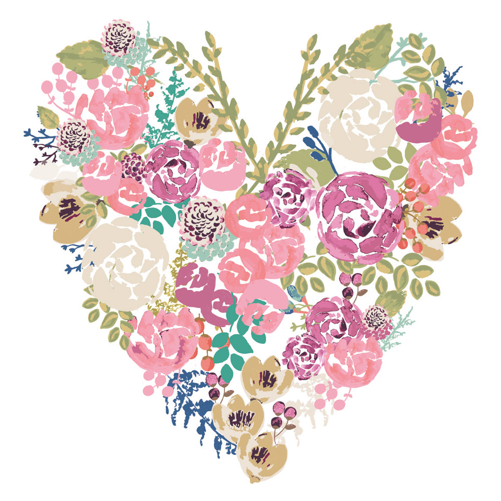 Heart Bouquet from the W'innovate print portfolio
