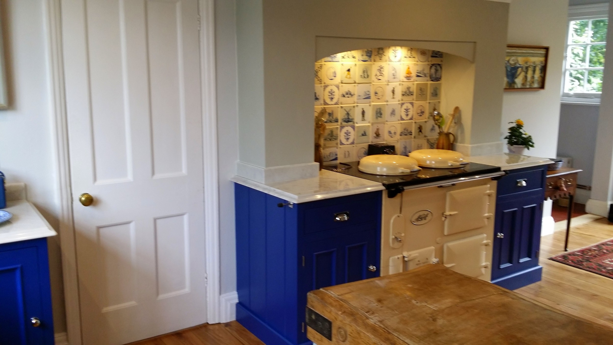 A dream kitchen handmade units and Aga