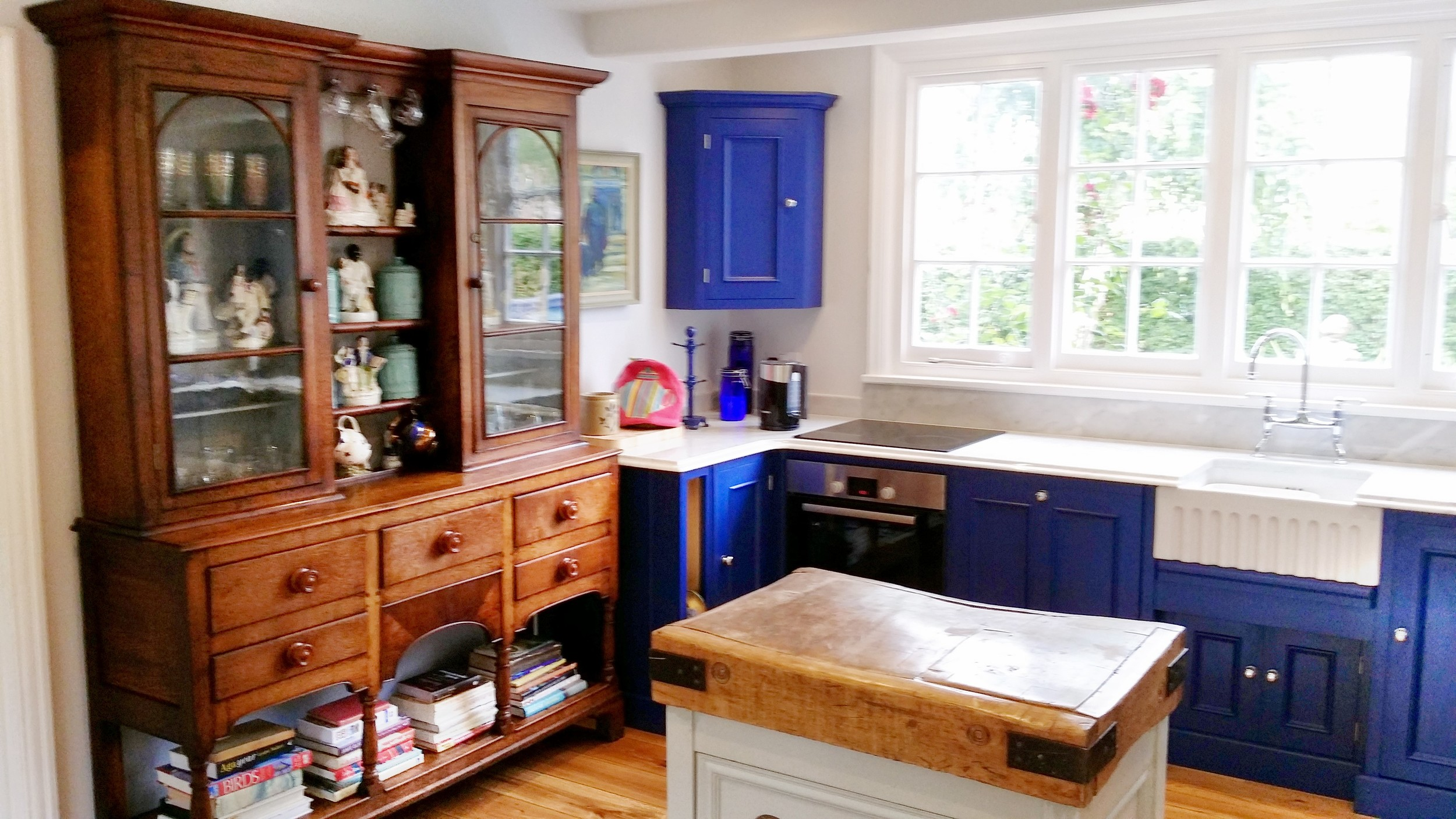 Kitchen butchers block and Georgian dresser