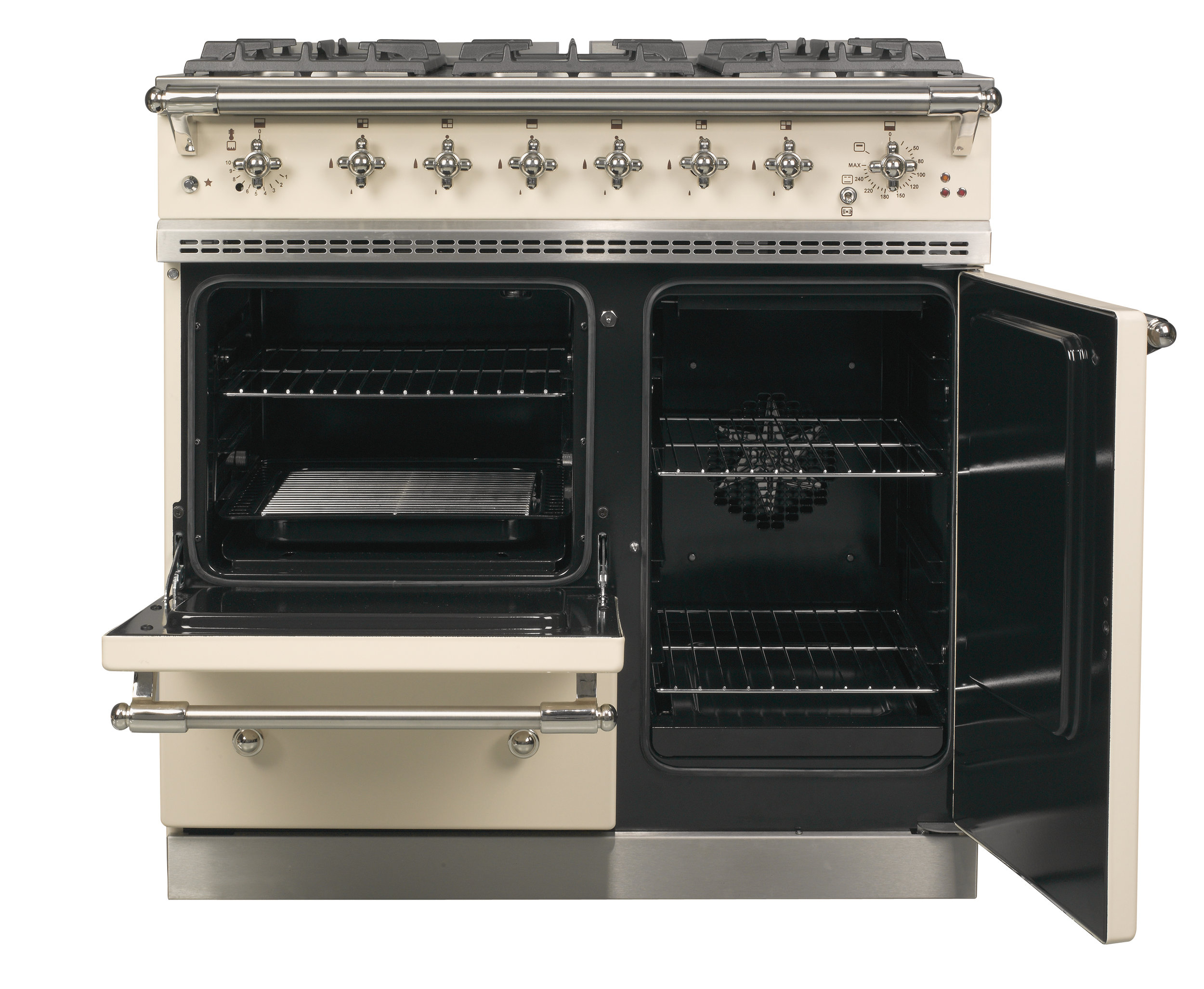 Beaune in English Cream with Chrome Trim Open Ovens