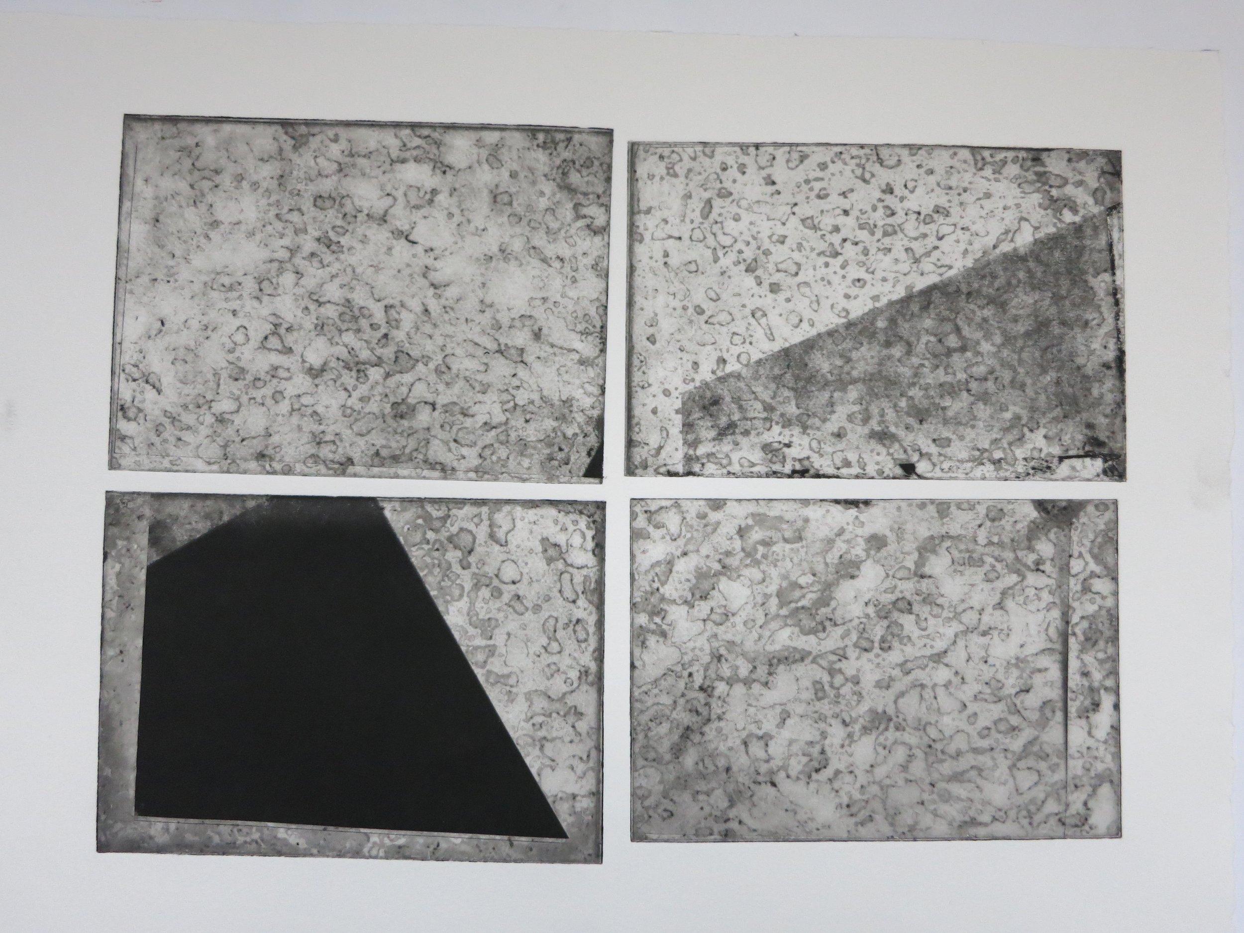 Void Series: 'Void Splatter' (2016) photo etching (A3)