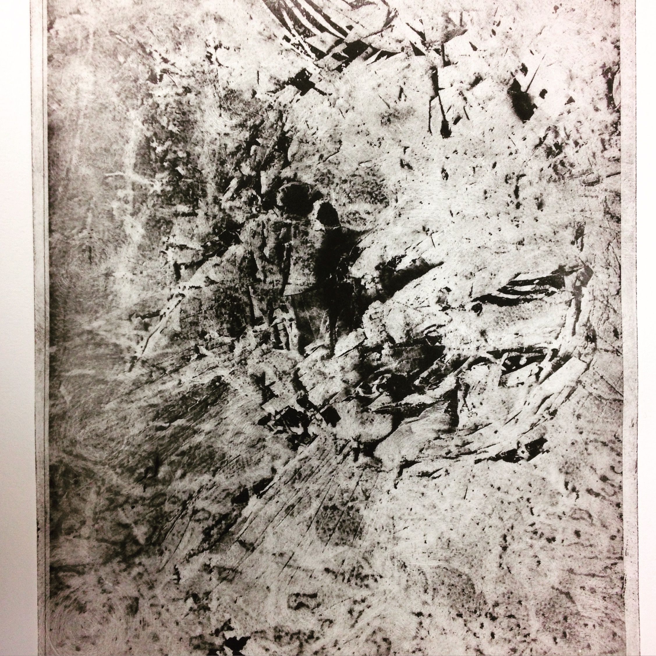 Disintegration Series: 'Obliterate' (2016) photo etching (A4)