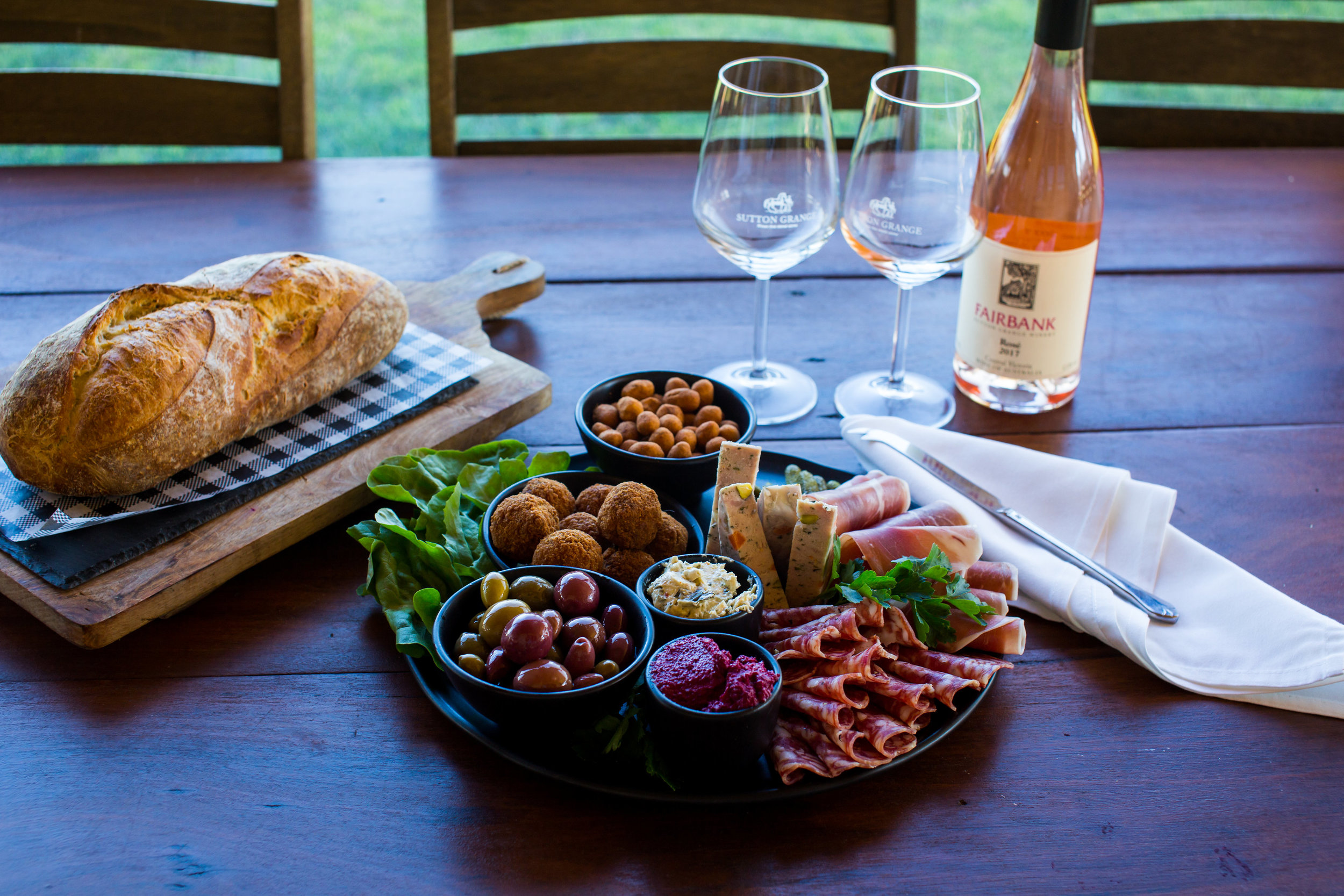 Winemakers Lunch - $30 per personFor groups of six or moreWelcoming half glass of Ancestrale Sparkling Rose followed by Regional grazing platters and farmyard cheese platters for the table. Bookings between 12pm and 2pm.