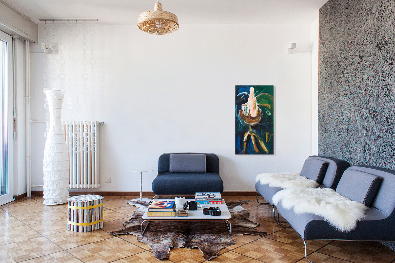 situation en appartement (hauteur plafond: 260 cm, sièges: 66 cm)