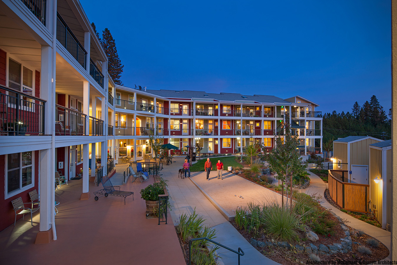 Wolf Creek Lodge, Grass Valley, CA. Architecture by McCamant & Durrett Architects