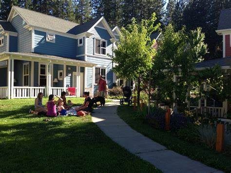 Nevada City Cohousing is a truly multi-generation community. Photo by Charles Durrett.