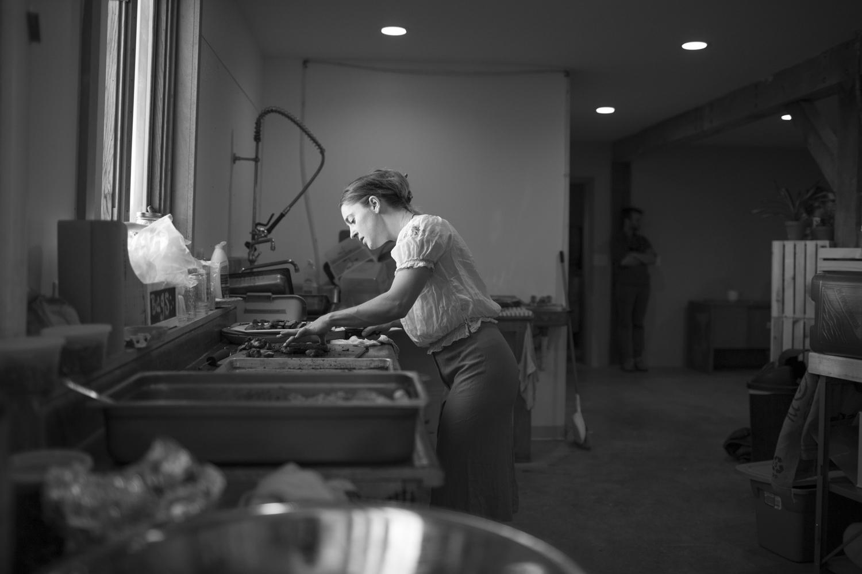 Samantha Du Pont in the kitchen.