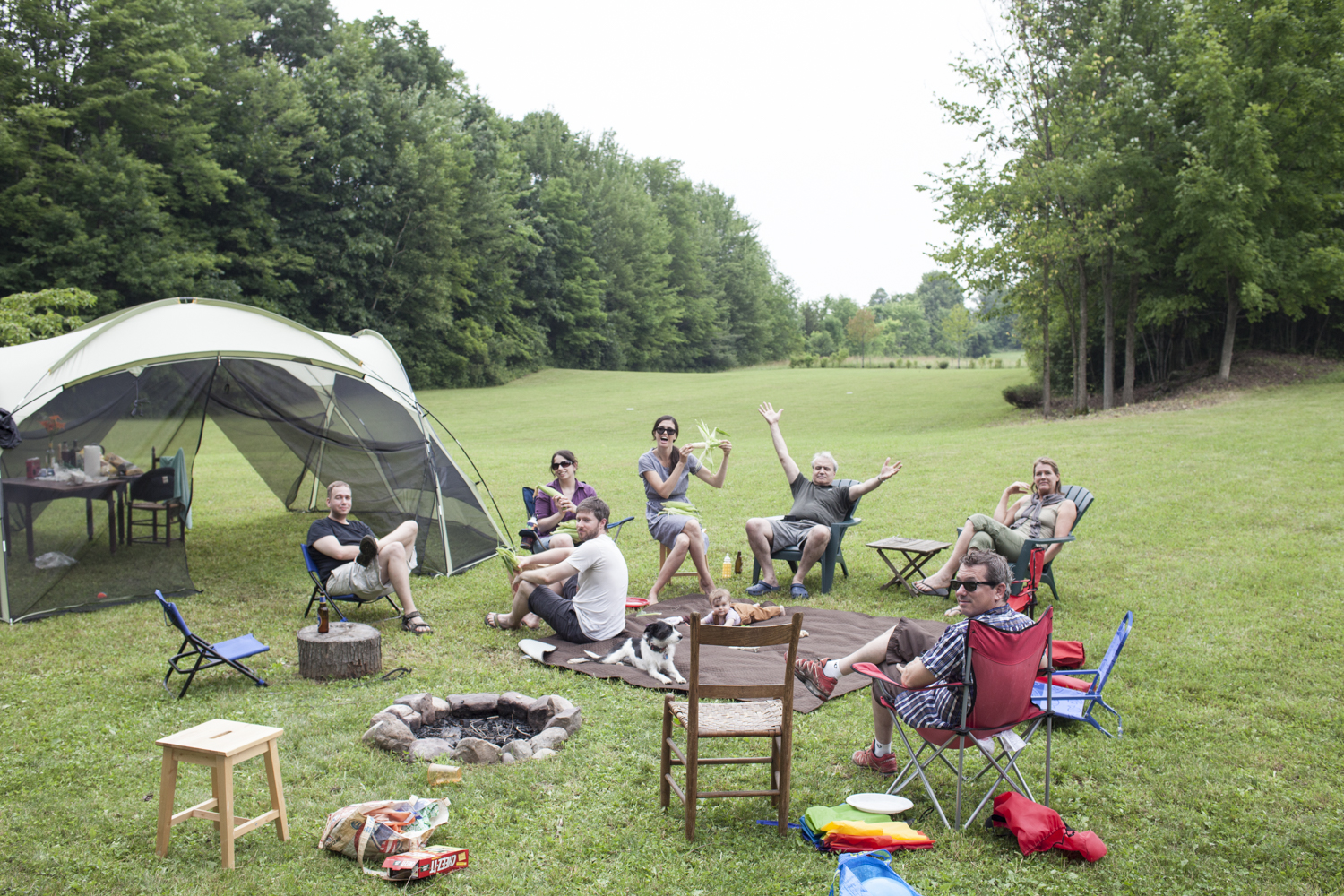 Camping party.