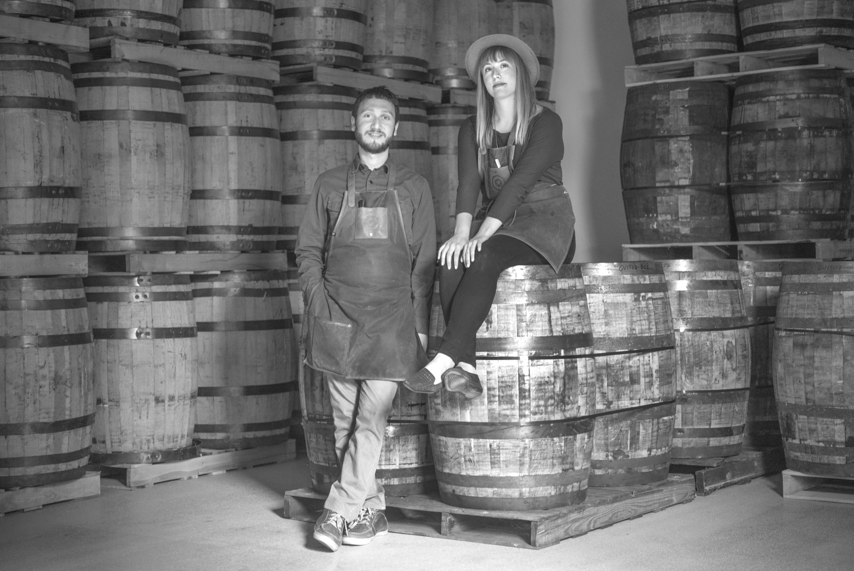 Sas Stewart and Sivan Cotel of Stonecutter's Spirits.