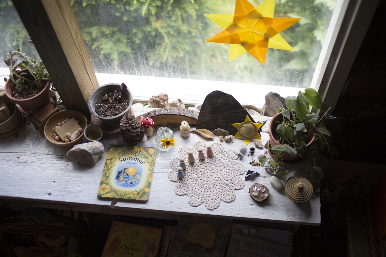 Small treasures on window sill