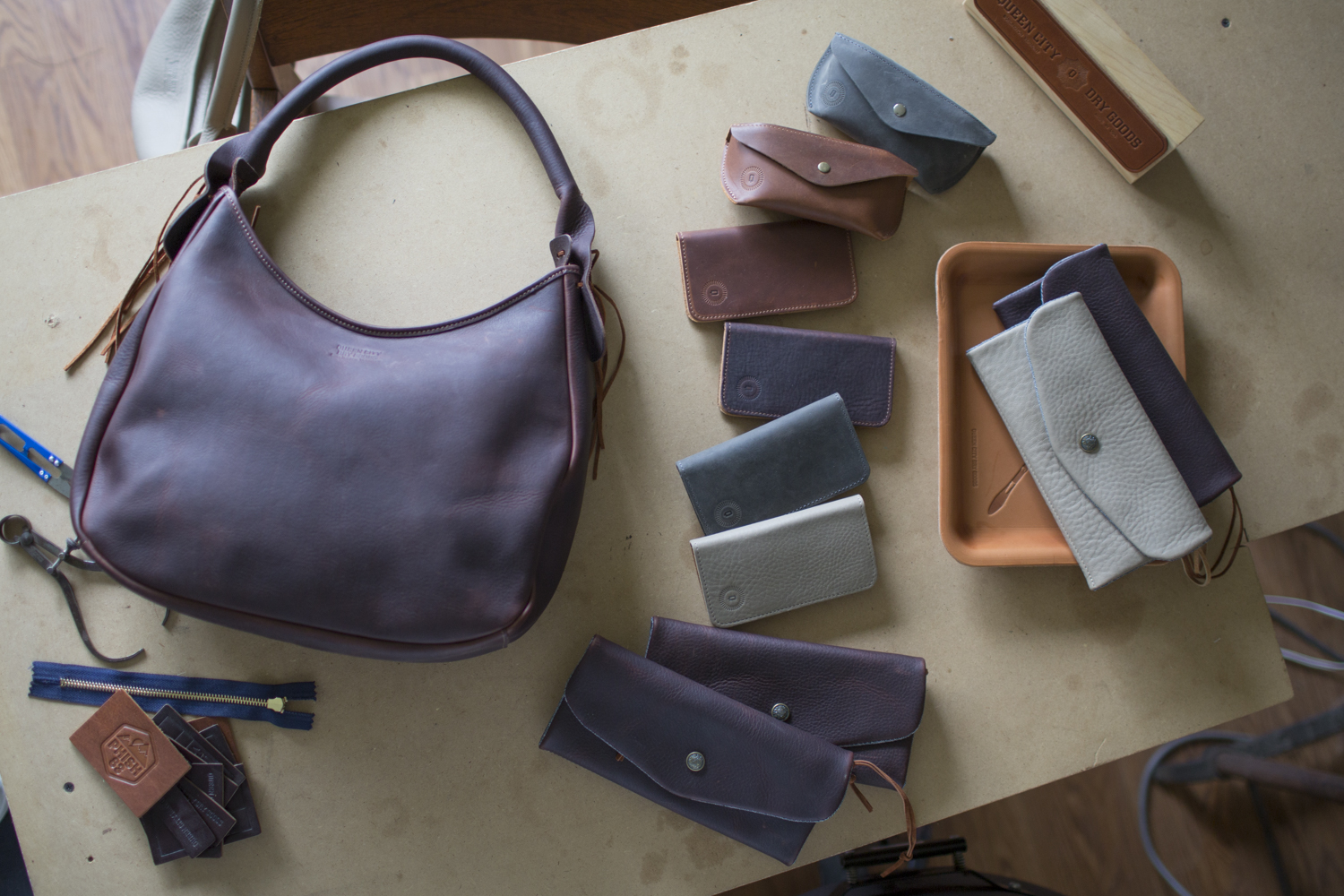 Iphone cases, Wallets, eyewear cases and the Vagabond bag