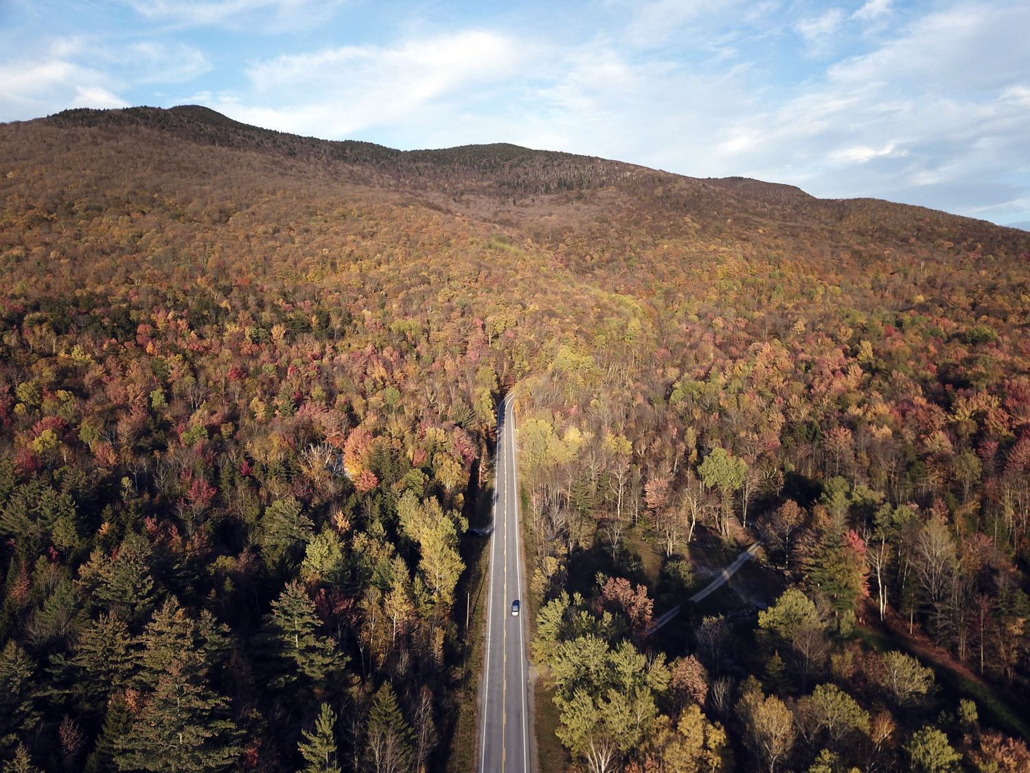 Fall Foliage along Route 73 in Goshen, VT