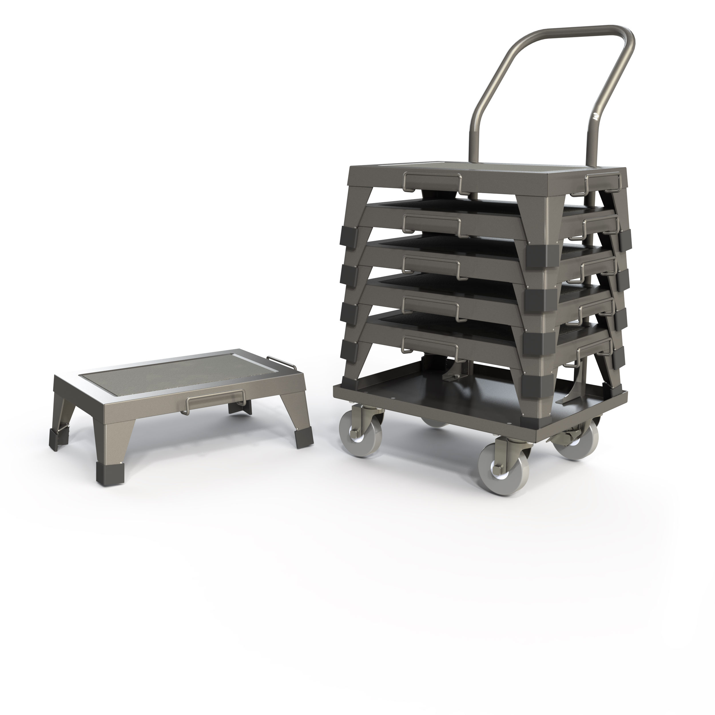 STS121805 (single step stool) with T0800 (transport cart).jpg