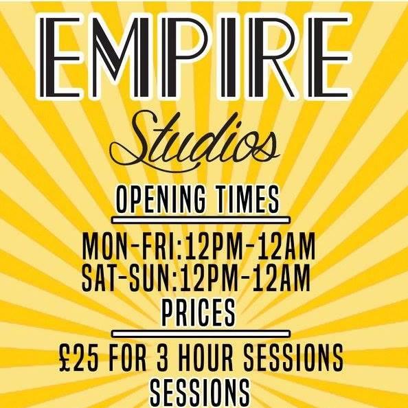 NHC MUSIC Registered band? Then you get 20% off studio time at Empire Studios!     www.facebook.com/EmpireStudiosGlasgow/