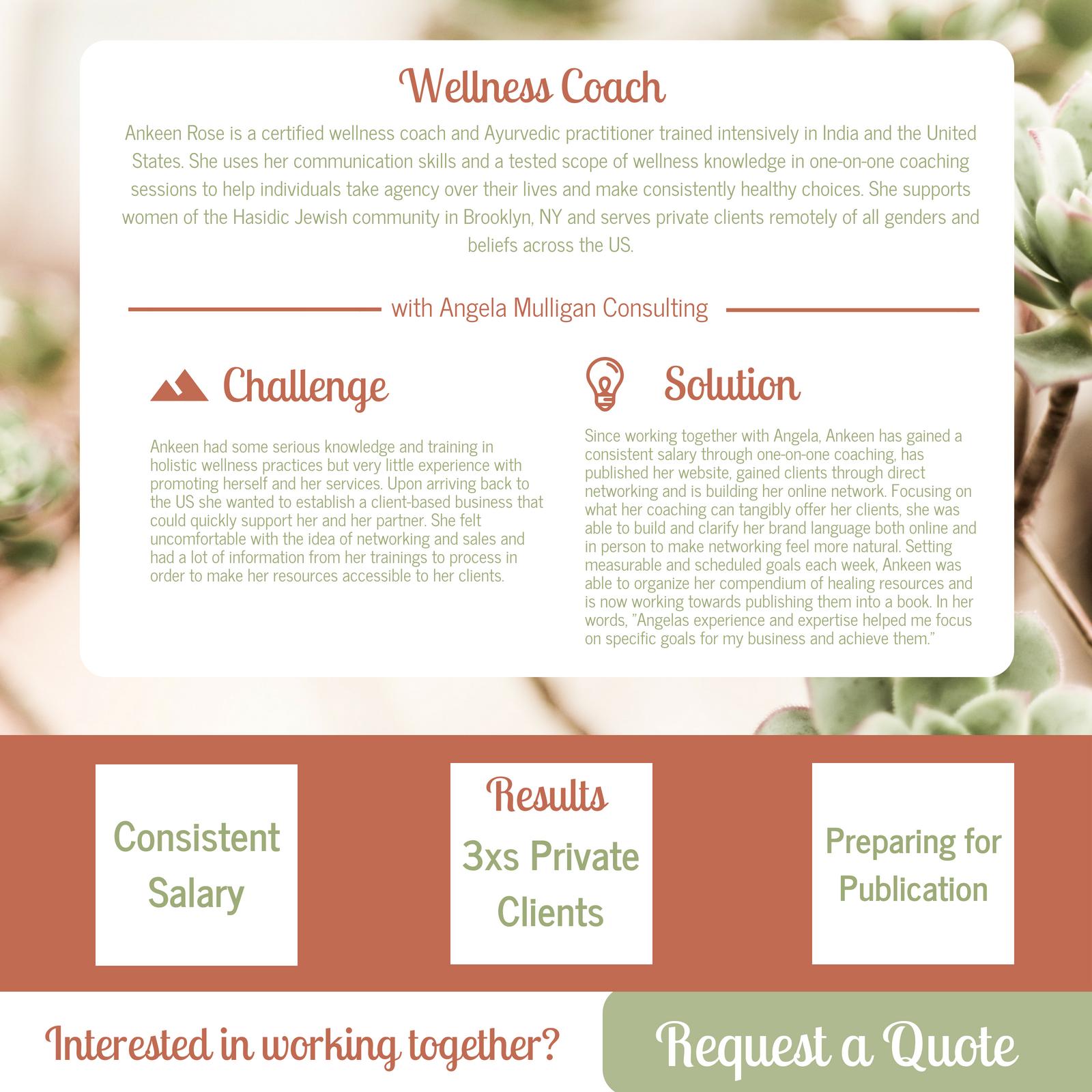 Wellness Coach Case Study Angela Mulligan