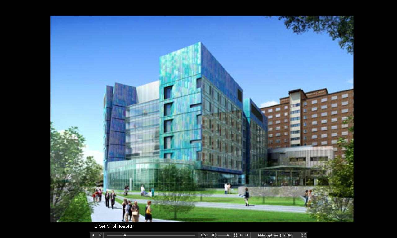 Design for Fairview Hospital campus located on Riverside Avenue