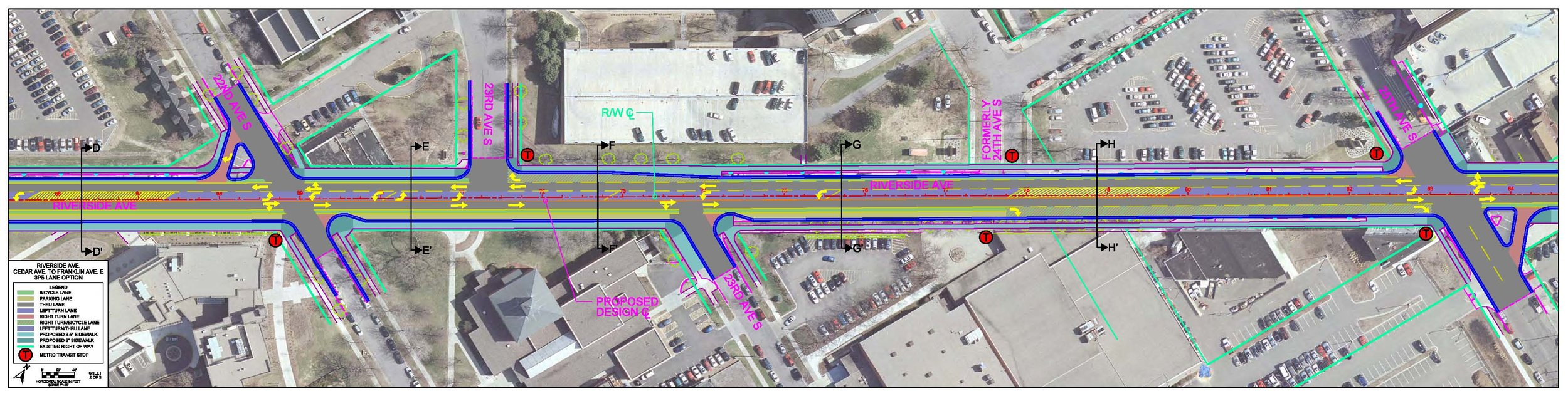 Design for Riverside Avenue streetscape