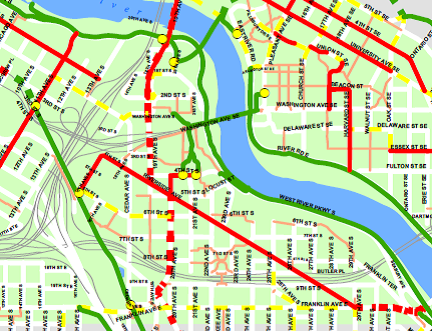Green line connections map.png