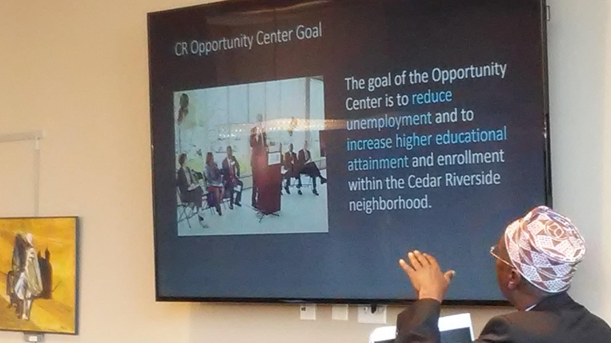 Opportunity Center goal